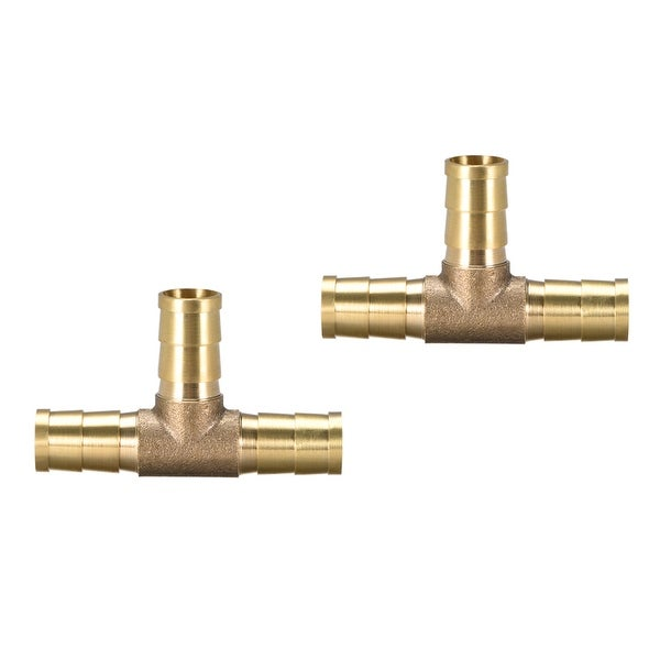 "25/64"" Brass Barb Hose Fitting Tee 3Way Connector Joiner Air Water Fuel Gas 2pcs - 10pcs 2pcs"