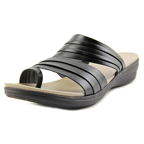 Kim Rogers Cammie Women Open Toe Synthetic Black Slides Sandal