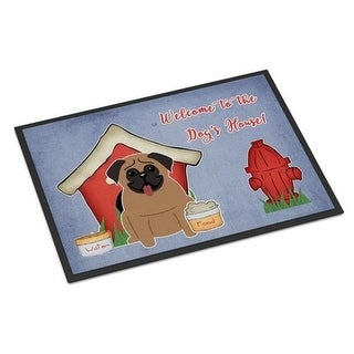 Carolines Treasures BB2759MAT Dog House Collection Pug Brown Indoor or Outdoor Mat 18 x 0.25 x 27 in.