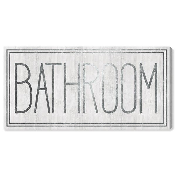 Oliver Gal Bathroom Bath And Laundry Wall Art Canvas Print Bath Gray White Overstock 32208156