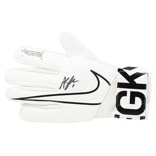 Alyssa Naeher USA Women S Soccer Signed White Nike Goalkeeper Glove JSA