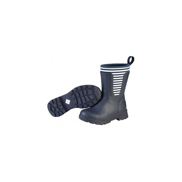 Muck Boots Navy/White Stripe Women's Cambridge Mid Boot - Size 5