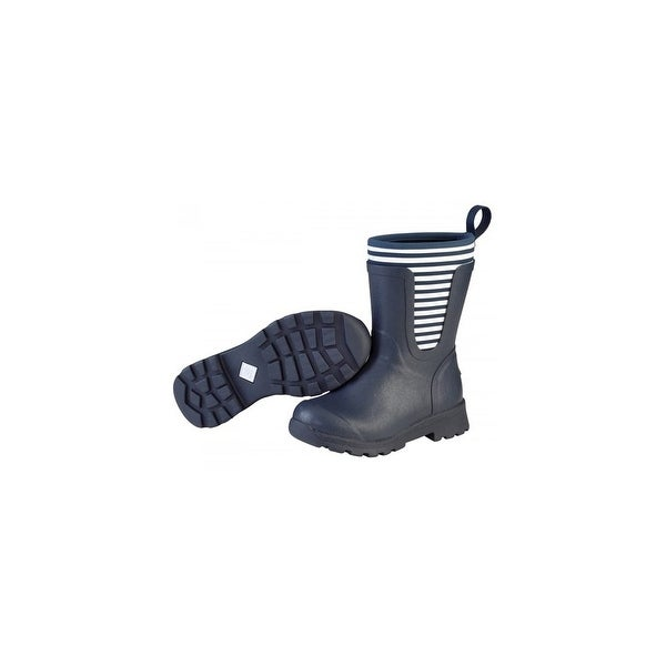 Muck Boots Navy/White Stripe Women's Cambridge Mid Boot - Size 9