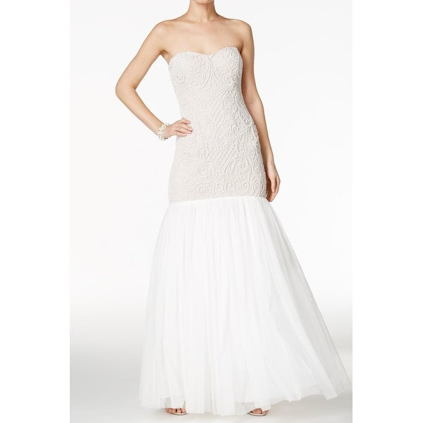Shop Adrianna Papell Womens Faux Peal Wedding Gown Dress