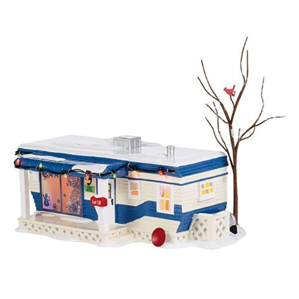"Department 56 Snow Village ""Lot 58, Christmas Court"" Ceramic Lighted Building #4036565"