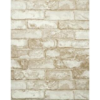 York Wallcoverings RN1030 Rustic Brick Wallpaper - N/A