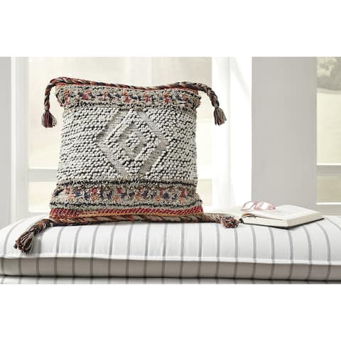 Fariel Multi-Color Boho-Chic Throw Pillow