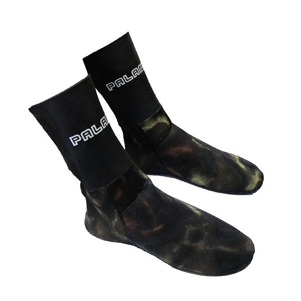 Palantic Scuba Diving Spearfishing Camouflage Camo 3mm Neoprene Fin Socks