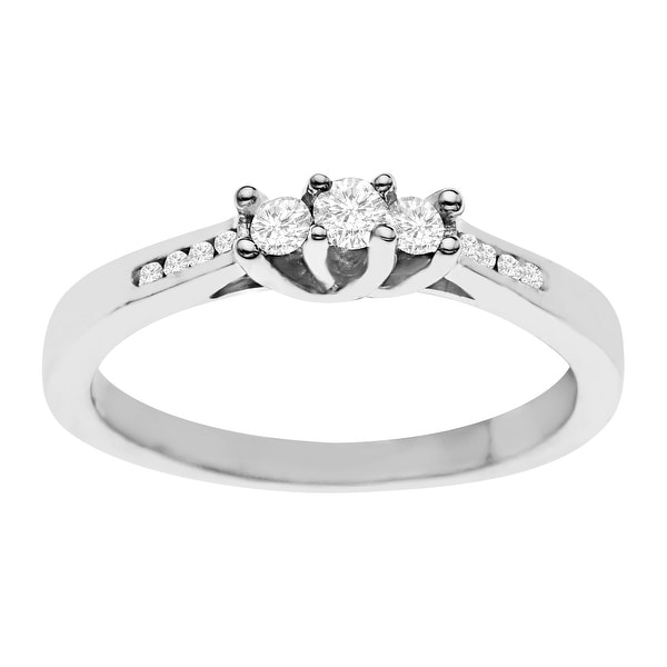 1/5 ct Diamond Ring in Sterling Silver