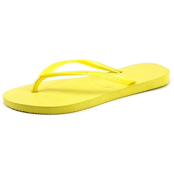 Havaianas Slim Women Open Toe Synthetic Yellow Flip Flop Sandal