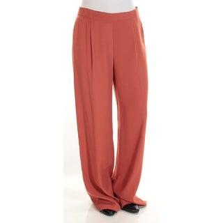 BAR III $69 Womens New 1375 Orange Wide Leg Wear To Work Pants 4 Regular B+B