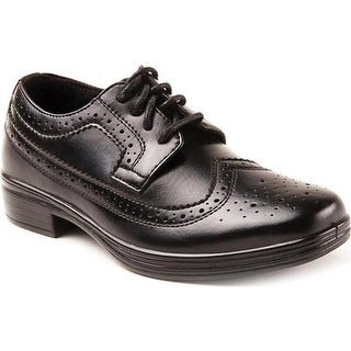 Deer Stags Boys' Ace Wing Tip Oxford Black
