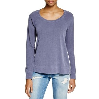 Splendid Womens Pullover Top Mixed Media Pleated-Back