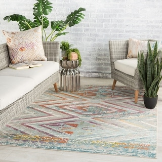 Link to The Curated Nomad Langton Indoor/ Outdoor Tribal Area Rug Similar Items in Rugs