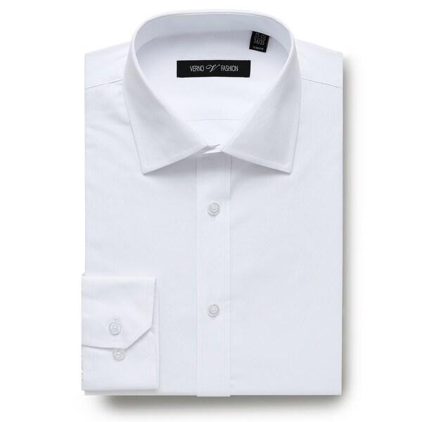 Mens Slim Fit Long Sleeve Dress Shirt Dobby Business Shirt For Men