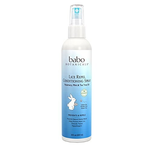 Babo Botanicals Lice Prevention Kids Conditioning Spray, Rosemary & Tea Tree, 8 Ounce