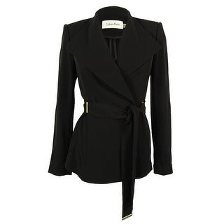 Calvin Klein Women's Belted Wrap Jacket