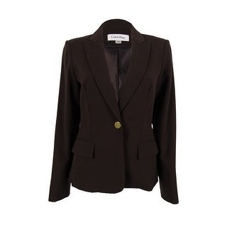Calvin Klein Women's Classic Single Button Blazer Jacket
