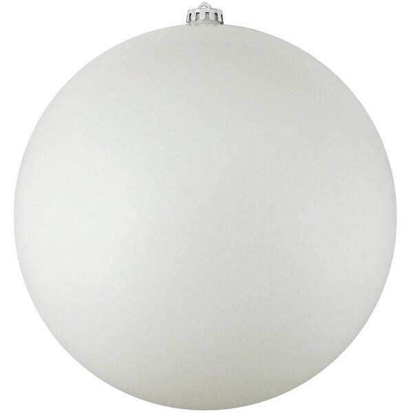 """Commercial Matte White Shatterproof Christmas Ball Ornament 8"""" (200mm)"""