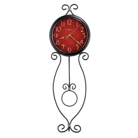 Howard Miller Addison Rustic, Farmhouse Chic, Bold and Vibrant, Transitional Style Wall Clock with Pendulum, Reloj De Pared