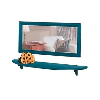 Wall Mounted Bathroom Shelves Country Blue Pine 43 3/4 Inches