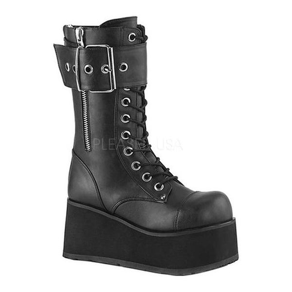 4a4aea43ebfd0 Shop Demonia Men's Petrol 150 Platform Mid-Calf Boot Black Vegan Leather -  Free Shipping Today - Overstock - 26059773