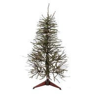 3' Pre-Lit Vienna Twig Table Top Artificial Christmas Tree - Clear Lights - brown