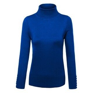 NE PEOPLE Womens Knit Turtle Neck Swater with Button [NEWT310] (More options available)