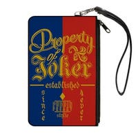 Suicide Squad Property Of Joker Puddin Freaky Stylie Blue Red Gold Canvas Canvas Zipper Wallet - S