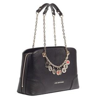 Moschino JC4071 0000 Black Satchel/Shoulder Bag - 14-9-5