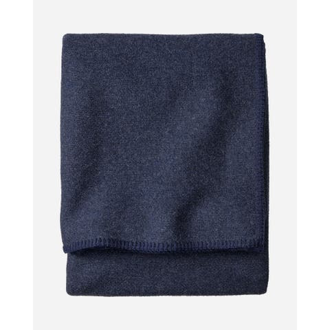 Pendleton Eco-Wise Navy Heather Blanket Queen