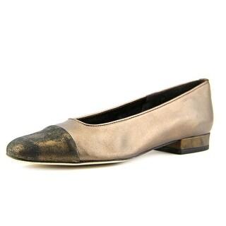 Vaneli Frankie W Square Toe Leather Flats