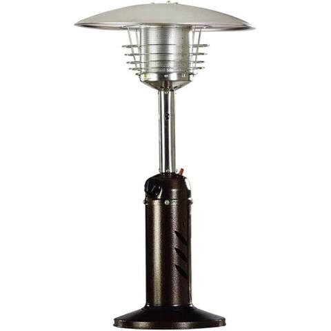 Hanover HAN0204HB Mini Umbrella Propane Table Top Patio Heater with 1 lbs Tank