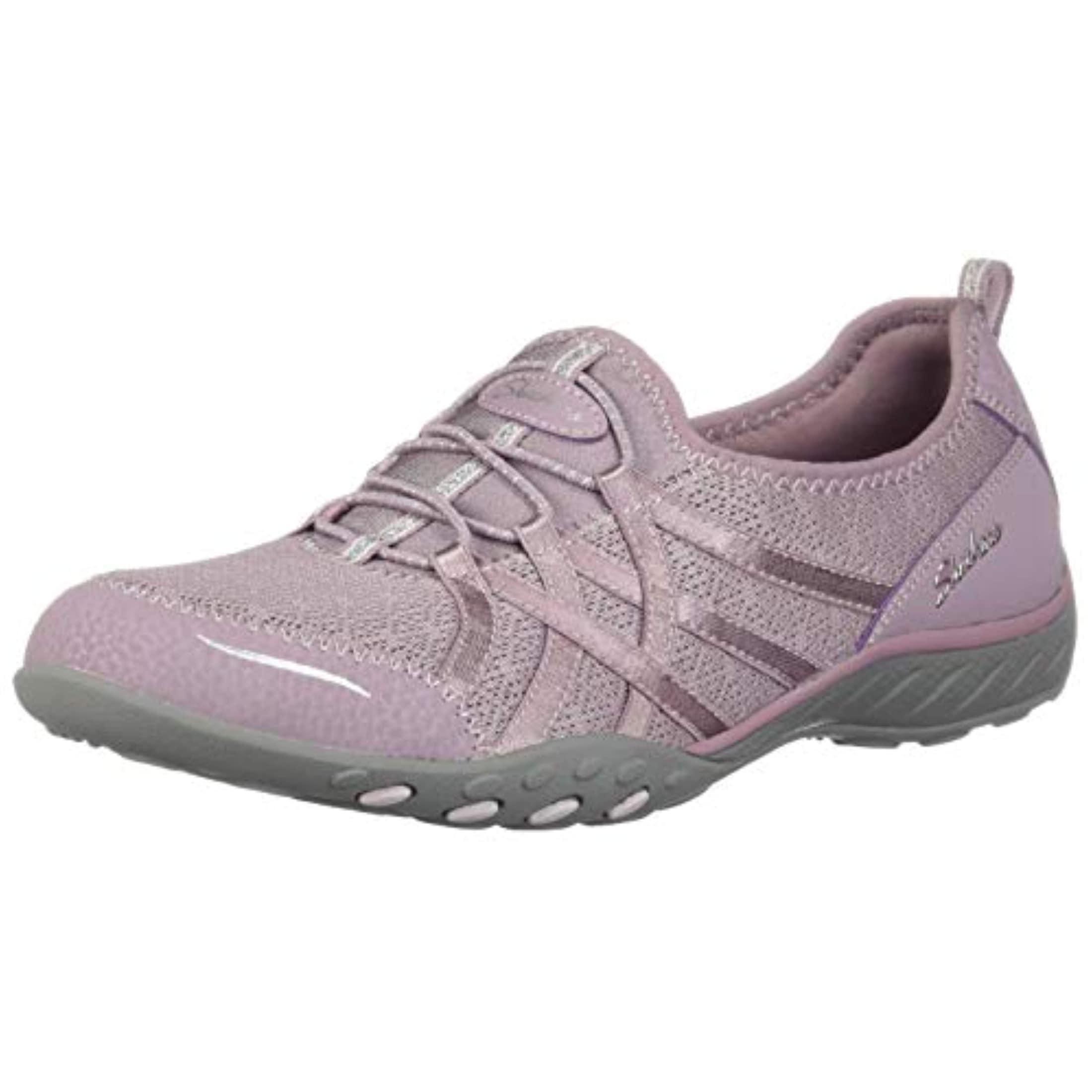 Skechers Relaxed Fit Breathe Easy Envy Me Womens Slip On Sneakers Lavender 8