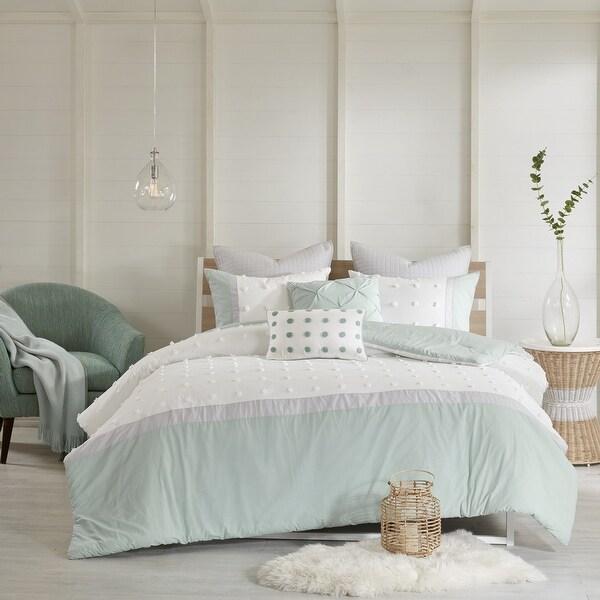 Urban Habitat Jojo Ivory 7 Piece Cotton Jacquard Comforter Set. Opens flyout.