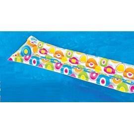 "72"" Colorful Circle Print Inflatable Air Mattress Swimming Pool Raft"