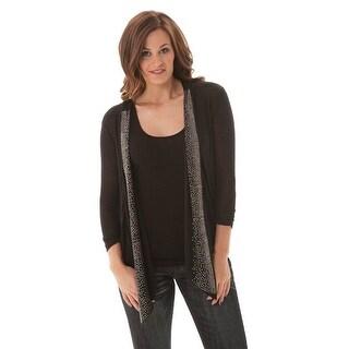 Cowgirl Tuff Western Sweater Womens Cardigan Studs Flowy Black H00382