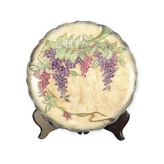 Dale Tiffany PA500209 Porcelain Wisteria Decorative Plate