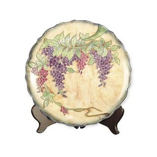 Dale Tiffany PA500209 Porcelain Wisteria Decorative Plate