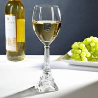 Regal Crested Eiffel Tower White Wine Glass