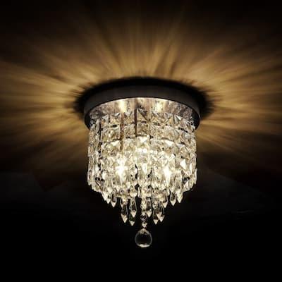 GetLedel 3-Light Crystal Flush Mount Chandelier