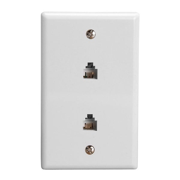 Wall Plate Jacks 6P4C Double White