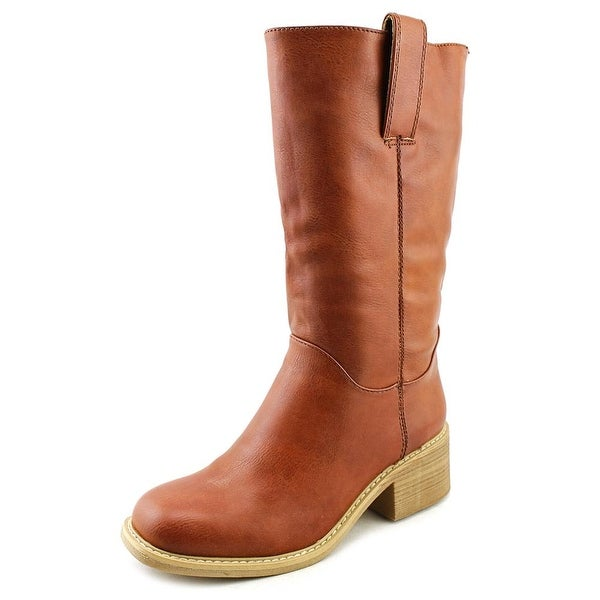 Dolce by Mojo Moxy Bounty Women Round Toe Leather Brown Mid Calf Boot