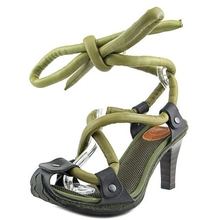 Camper Together Willhelm Stacked Peep-Toe Synthetic Slingback Heel