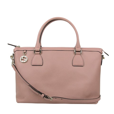 f4097b6844abf3 Gucci GG Charm Soft Pink Leather Large Convertible Straight Bag With Strap  449650 5806