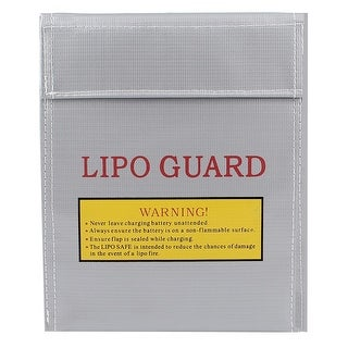 Unique Bargains 30cm x 23cm RC LiPo Battery Safety Guard Fireproof Charging Bag Silver Gray