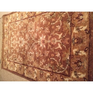 Hand-knotted Brown Estate Hand Spun New Zealand Wool Rug (2' x 3')