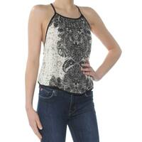FREE PEOPLE Womens Ivory Cami Printed Sleeveless Scoop Neck Top  Size: XS