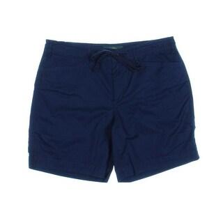 LRL Lauren Jeans Co. Womens Cotton Solid Cargo Shorts - 10