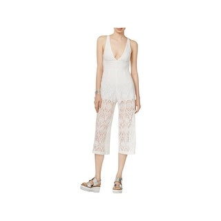 Minkpink Womens Jumpsuit Lace Cropped